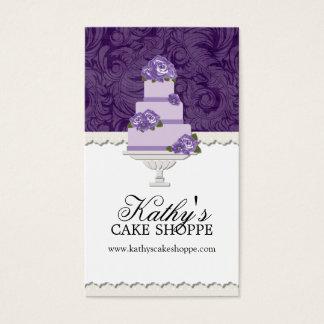 Cartões de visitas da padaria do bolo de casamento