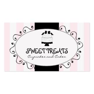 Cartões de visitas da padaria do bolo do cupcake