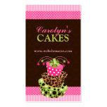Cartões de visitas da padaria do bolo e do damasco