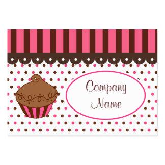 Cartões de visitas da padaria do cupcake