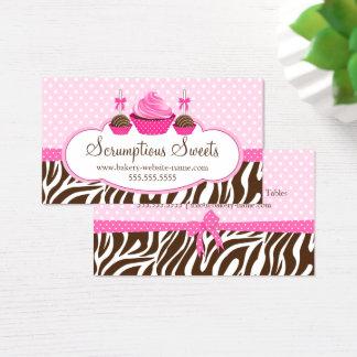 Cartões de visitas da padaria dos pop do cupcake e