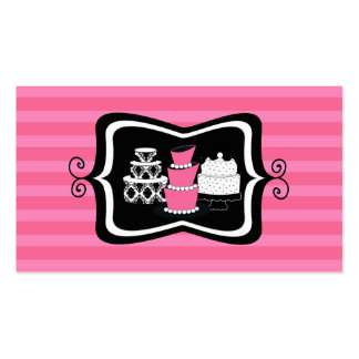 Cartões de visitas da padaria ou da loja do bolo