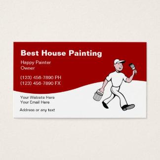 Cartões de visitas da pintura de casa