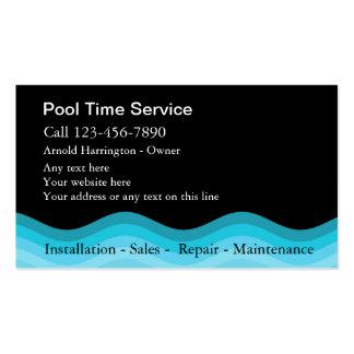 Cartões de visitas da piscina