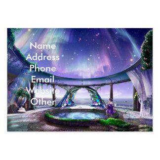 Cartões de visitas da piscina da fantasia