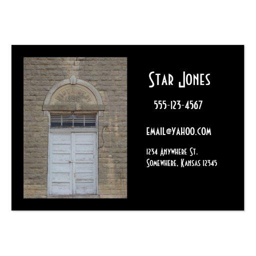 Cartões de visitas da porta do vintage