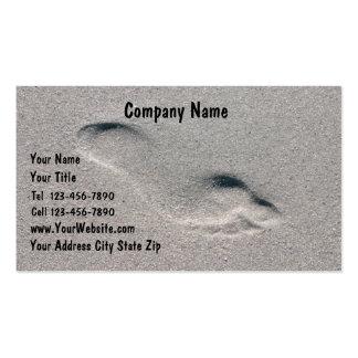 Cartões de visitas da praia