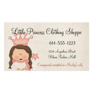 Cartões de visitas da princesa 1 criança