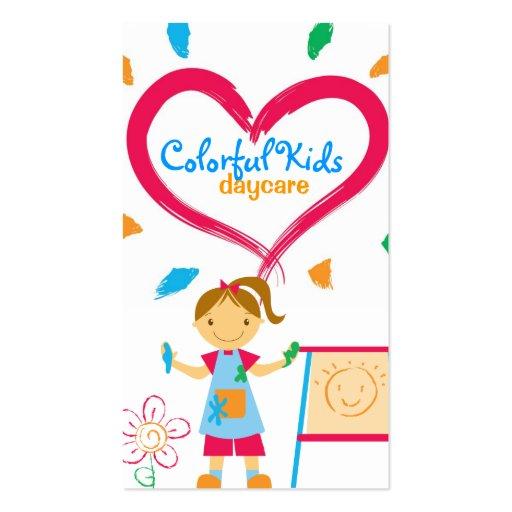 Cartões de visitas da puericultura