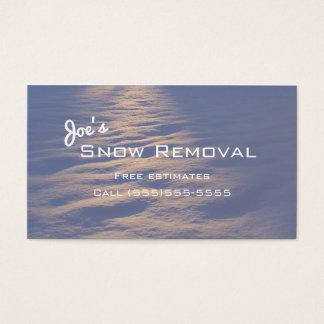 Cartões de visitas da remoção de neve