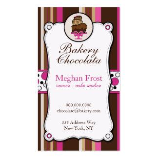 Cartões de visitas da sobrecarga do chocolate da p
