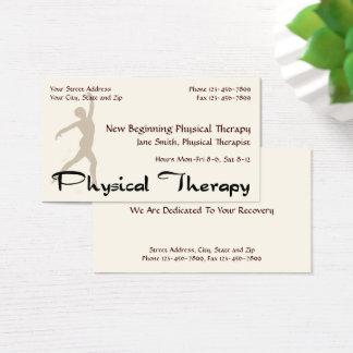 Cartões de visitas da terapia do fisioterapeuta