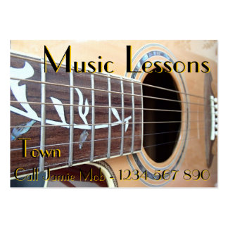 Cartões de visitas das lições de música