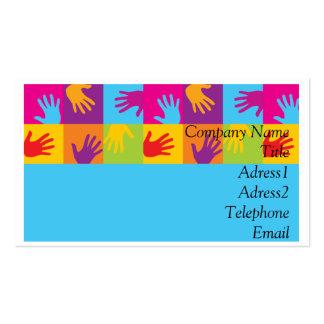 Cartões de visitas das mãos