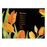 Cartões de visitas das tulipas