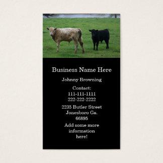 Cartões de visitas das vacas