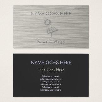 """Cartões de visitas """"de aço"""" da energia solar"""