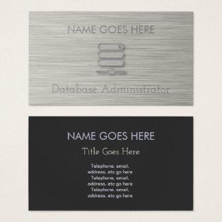 """Cartões de visitas """"de aço"""" do administrador de"""