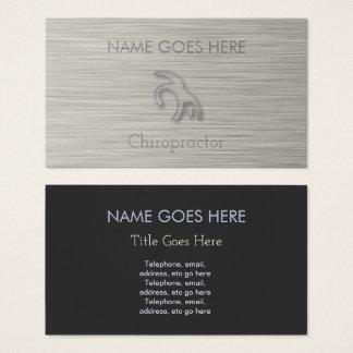 """Cartões de visitas """"de aço"""" do Chiropractor do"""