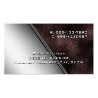 Cartões de visitas de aço inoxidável e do ferro