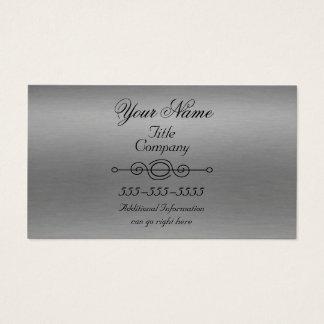Cartões de visitas de alumínio ásperos do