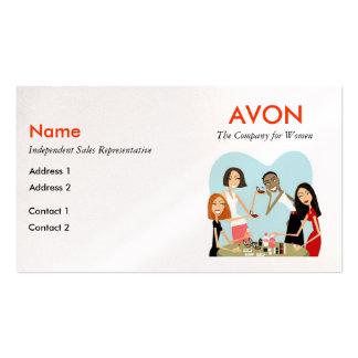 Cartões de visitas de Avon - pérola