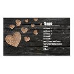 Cartões de visitas de cobre do coração