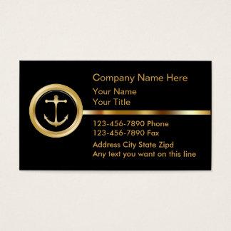 Cartões de visitas de gama alta do barco