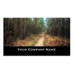 Cartões de visitas de HDR do trajeto de floresta