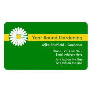 Cartões de visitas de jardinagem do profissional