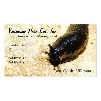Cartões de visitas de jardinagem do Slug do negóci