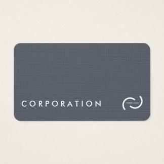Cartões de visitas de linho simples da textura.