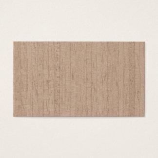 Cartões de visitas de madeira da grão