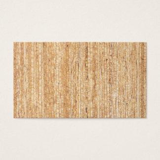 Cartões de visitas de madeira da grão do vintage