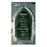 Cartões de visitas de madeira da porta