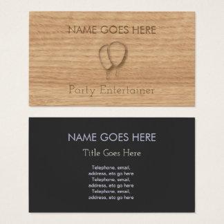 """Cartões de visitas """"de madeira"""" do anfitrião do"""