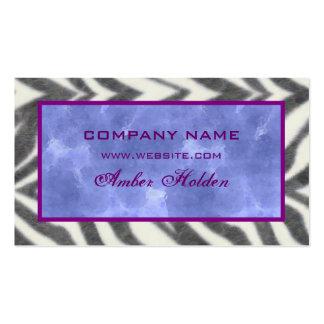 Cartões de visitas de mármore azuis da zebra