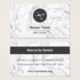Cartões de visitas de mármore chiques do