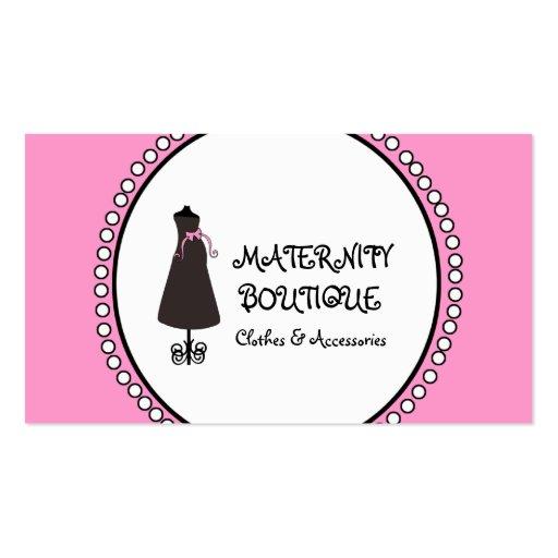 Cartões de visitas de maternidade brancos pretos c