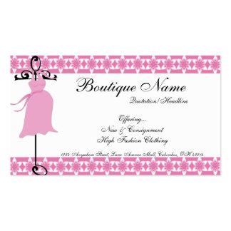 Cartões de visitas de maternidade cor-de-rosa do