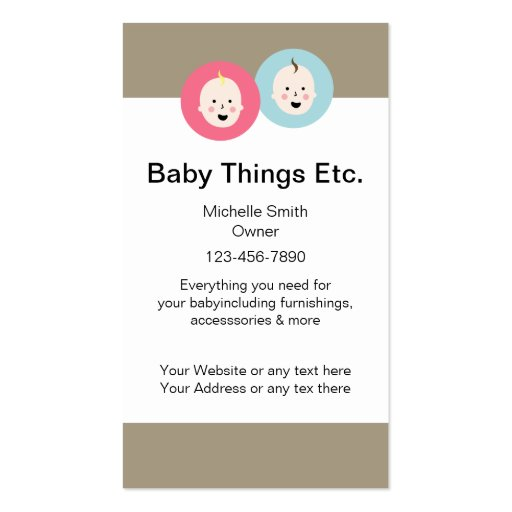 Cartões de visitas de maternidade da loja