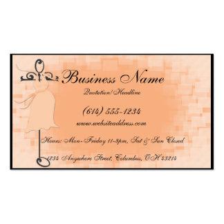 Cartões de visitas de maternidade do vestido do pê