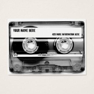 Cartões de visitas de Mixtape da cassete de banda