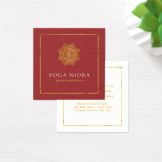 Cartões de visitas de Nidra da ioga