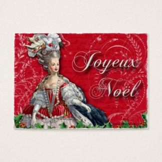 Cartões de visitas de Noel do Natal de Marie