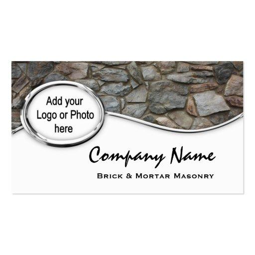 Cartões de visitas de prata da foto do logotipo da