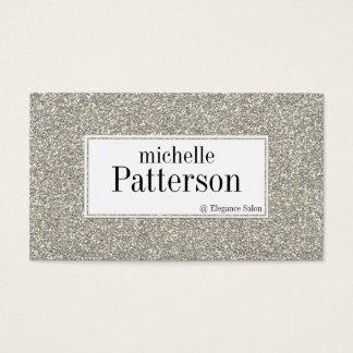 Cartões de visitas de prata da nomeação do olhar