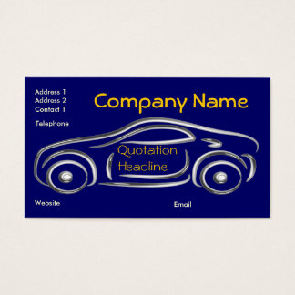 Cartões de visitas de prata do carro desportivo