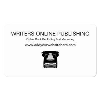 Cartões de visitas de publicação em linha