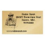 Cartões de visitas de Rancho